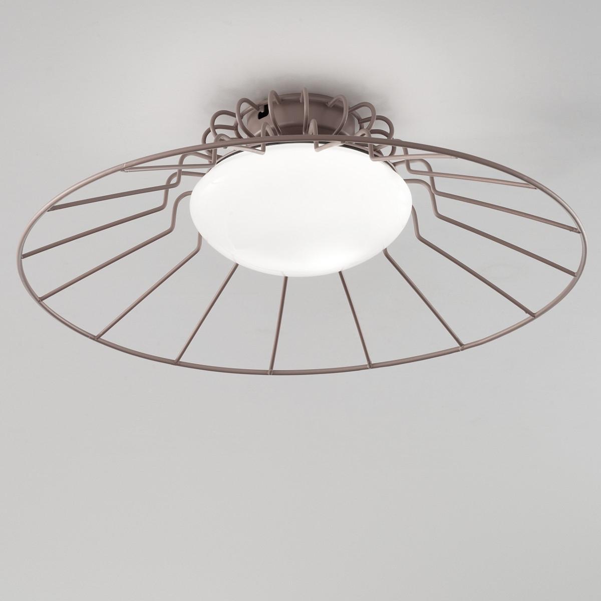 Moderne design leuchte im 50er jahre look farbiger gitterschirm mit glasdiffusor - Moderne bder mit dachschrge ...