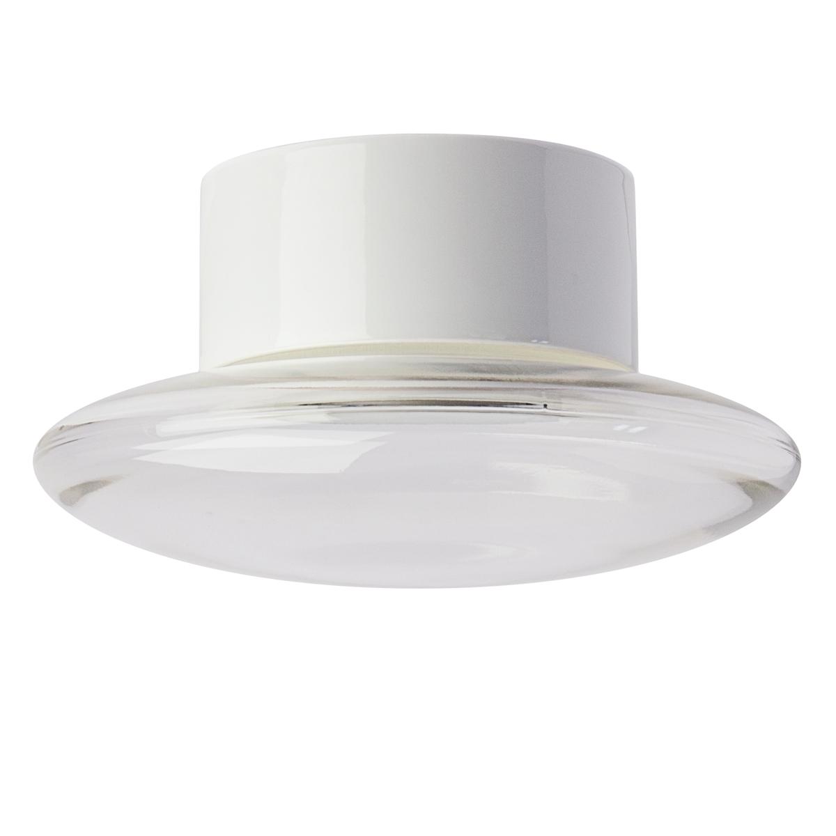 moderne badlampe mit glasschirm an einer keramikhalterung. Black Bedroom Furniture Sets. Home Design Ideas