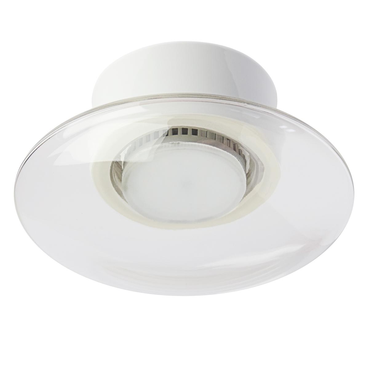 Moderne badlampe mit glasschirm an einer keramikhalterung