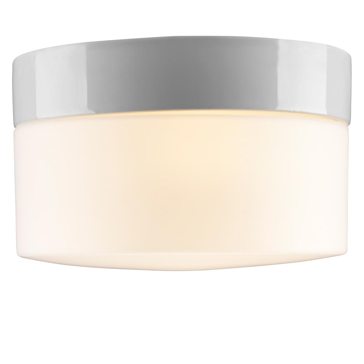 moderne und sehr flache led badlampe mit glasschirm an einer keramikhalterung. Black Bedroom Furniture Sets. Home Design Ideas