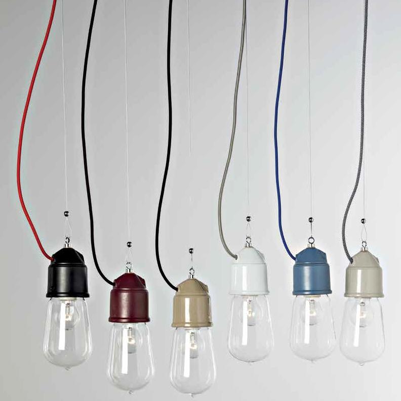 pendelleuchte mit glassturz und keramikfassung im stil einer alten fabriklampe. Black Bedroom Furniture Sets. Home Design Ideas