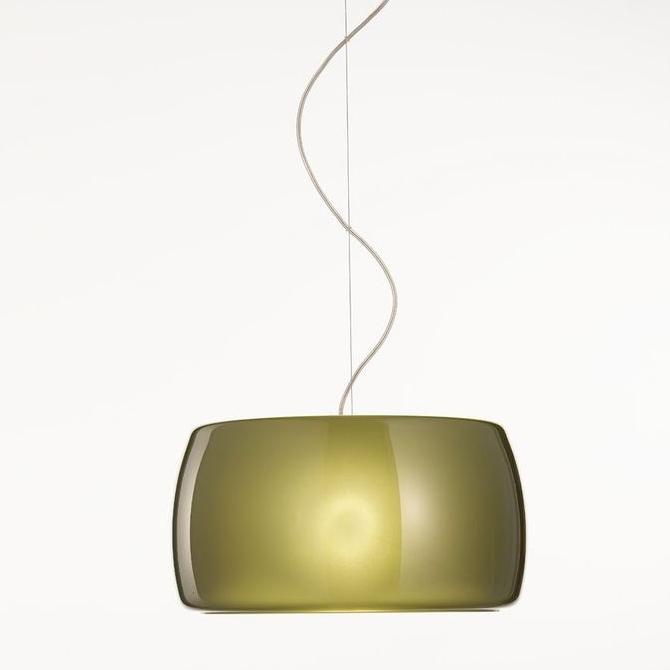 moderne farbige glas pendelleuchte mit gro em schirm. Black Bedroom Furniture Sets. Home Design Ideas