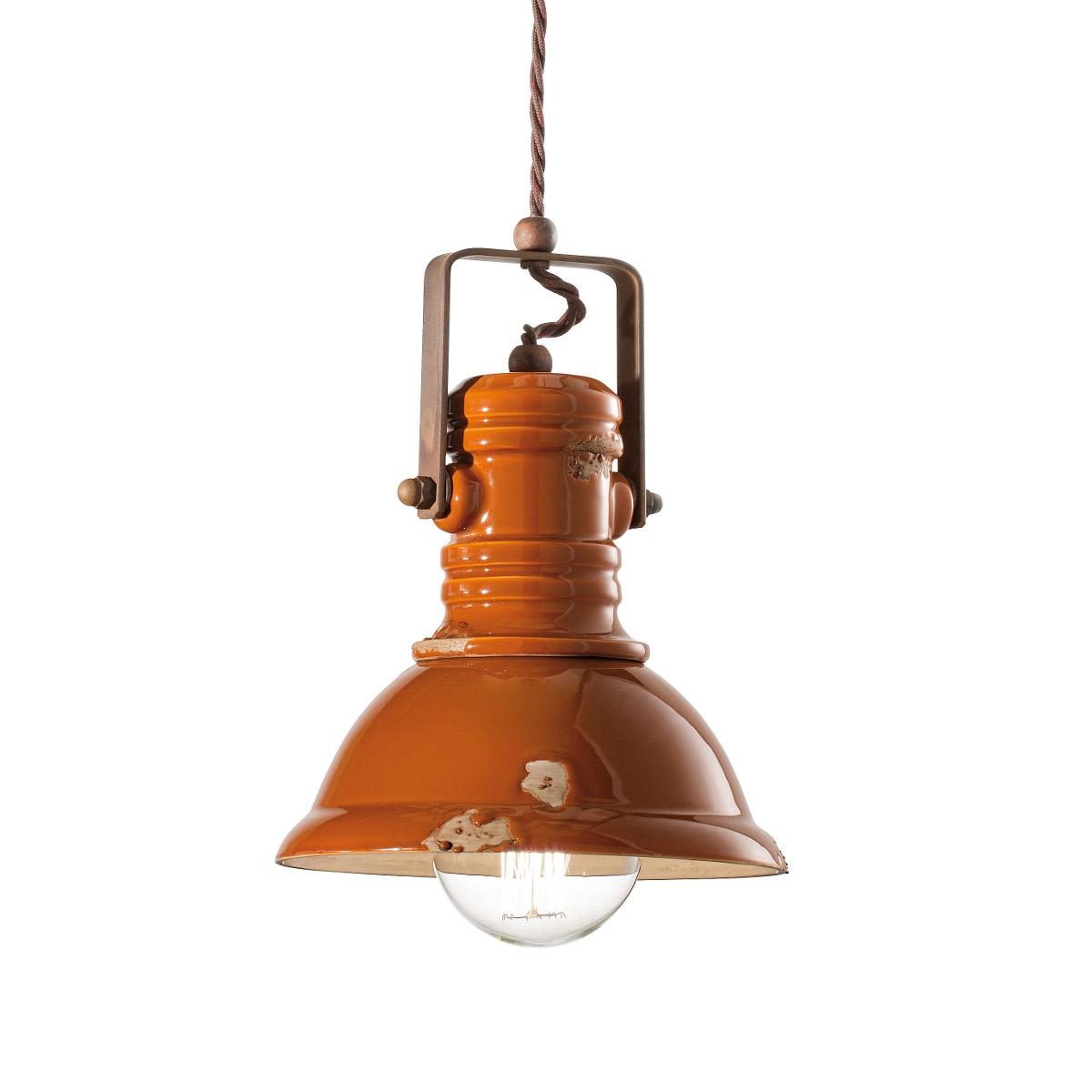Kleine Fabriklampe INDUSTRIAL mit klassisch geformtem Schirm in ...