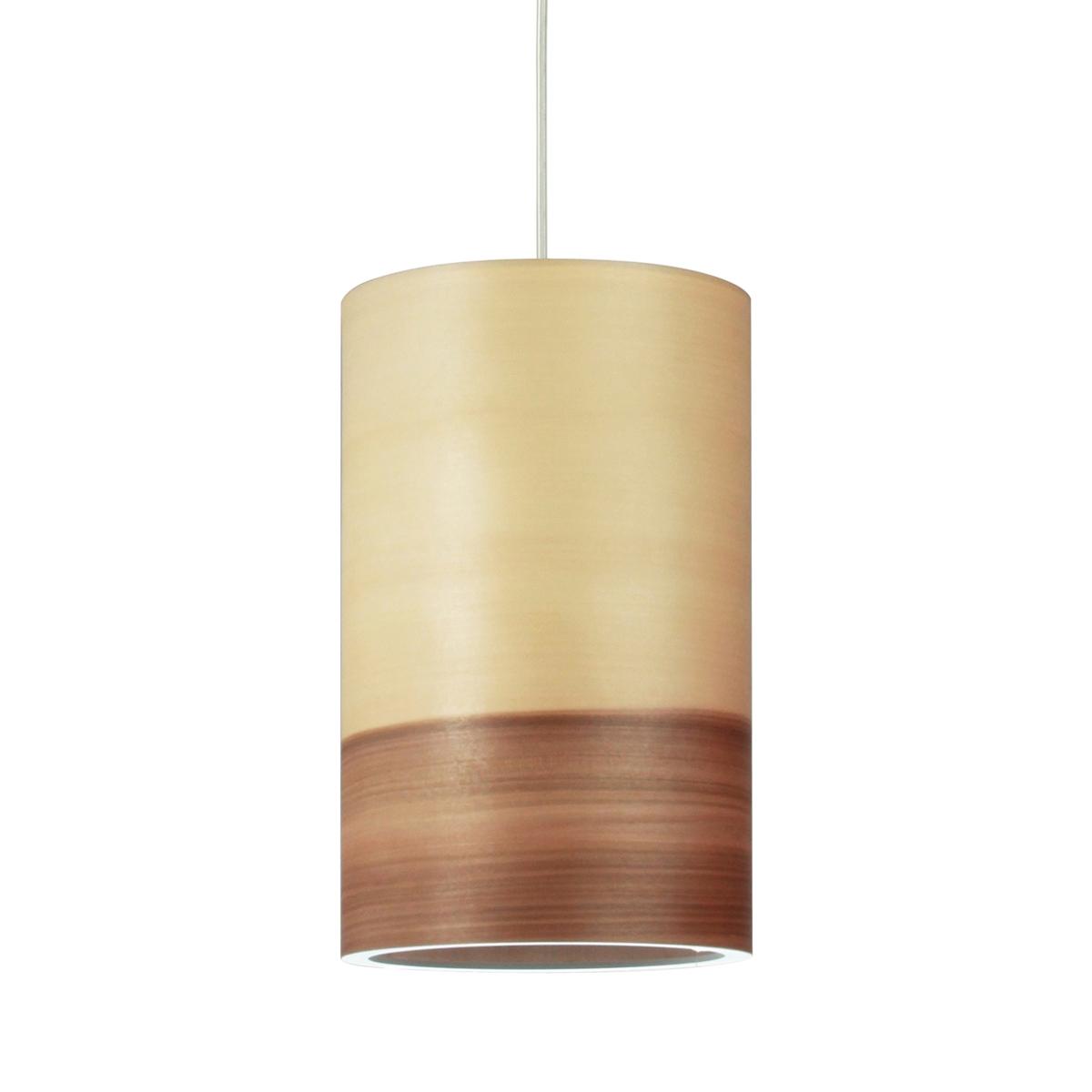 minimalistische pendelleuchte mit zylinderschirm aus holz. Black Bedroom Furniture Sets. Home Design Ideas