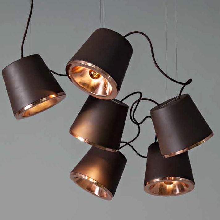 mehrflammige design pendelleuchte zur tischbeleuchtung oder als moderner leuchter. Black Bedroom Furniture Sets. Home Design Ideas
