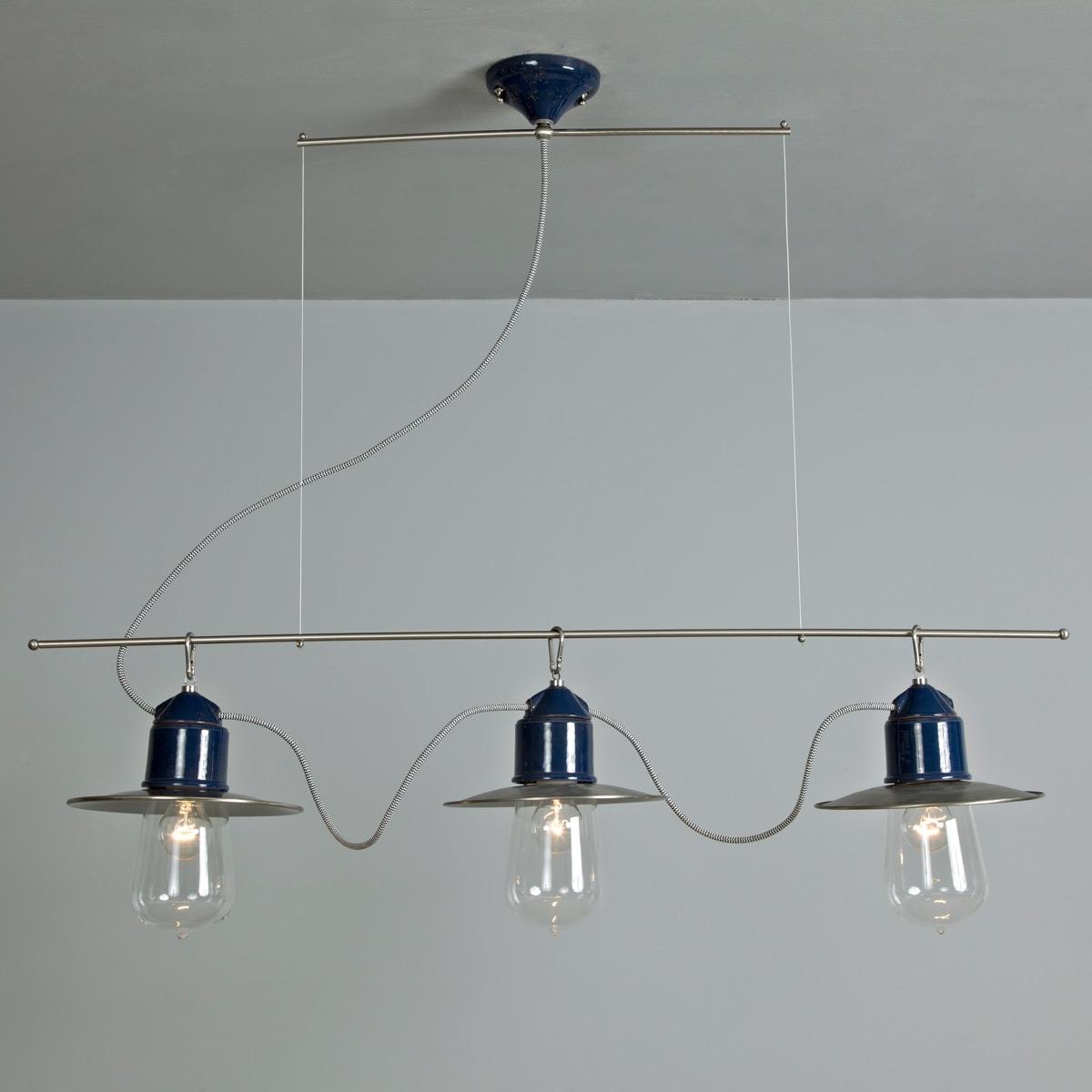 Au ergew hnliche dreiflammige tischpendelleuchte in - Suspension plusieurs ampoules ...
