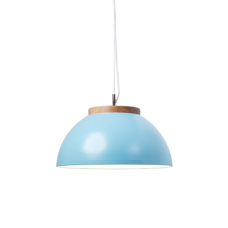 minimalistische design pendelleuchte mit farbigem halbkugelschirm. Black Bedroom Furniture Sets. Home Design Ideas