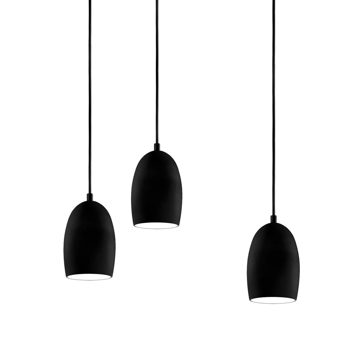 dreiflammige pendelleuchte glas pendelleuchte modern. Black Bedroom Furniture Sets. Home Design Ideas