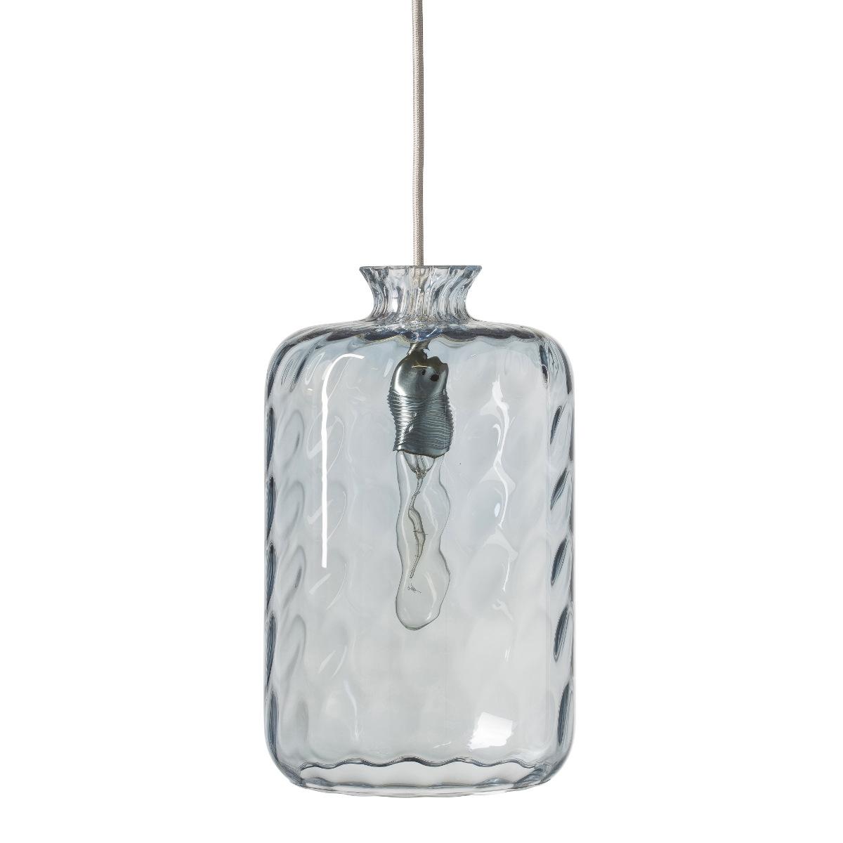 Zylinderf rmige pendelleuchte aus gewelltem farbigem glas for Deckenleuchten farbig