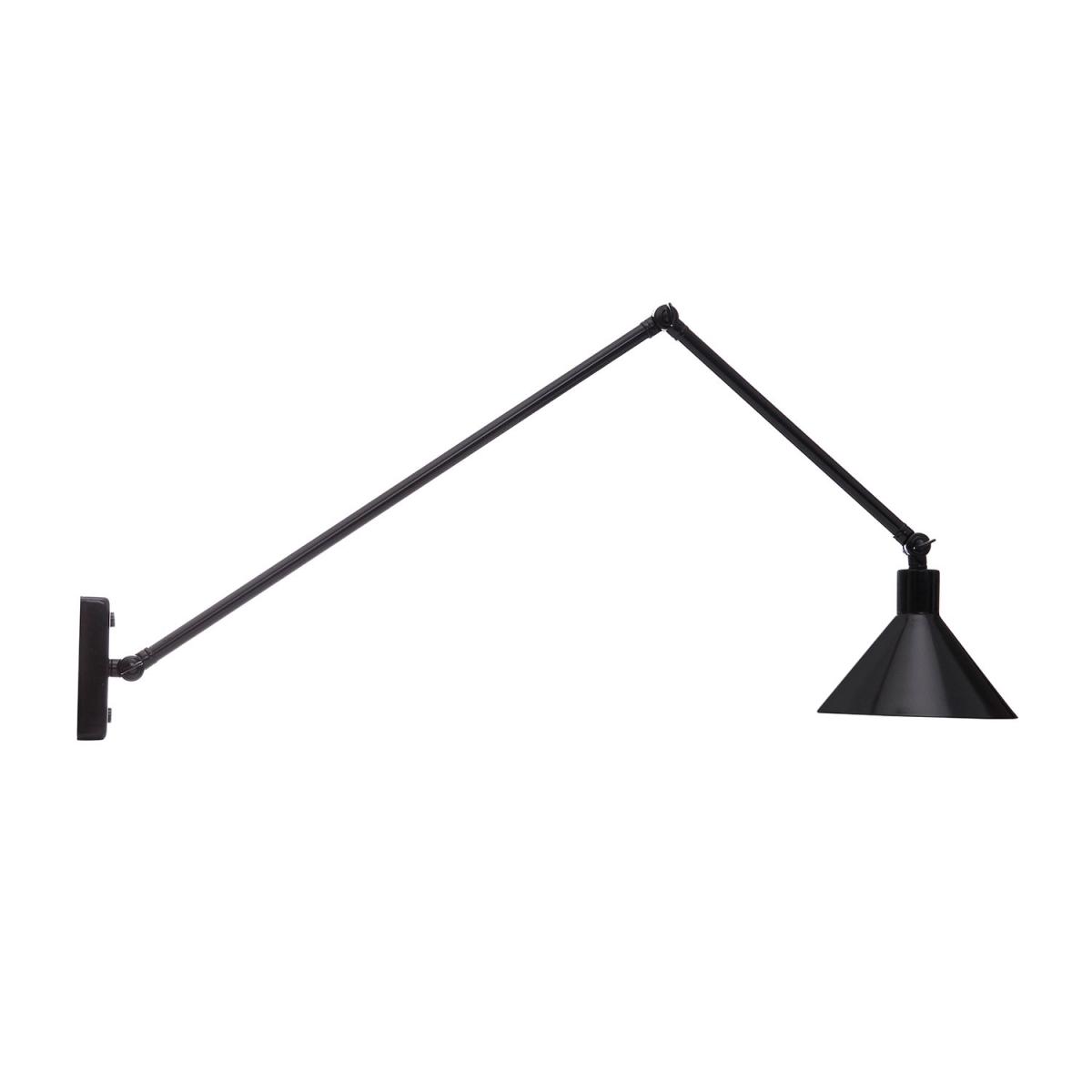 leuchte mit ausleger arm und drei gelenken zur wand und. Black Bedroom Furniture Sets. Home Design Ideas