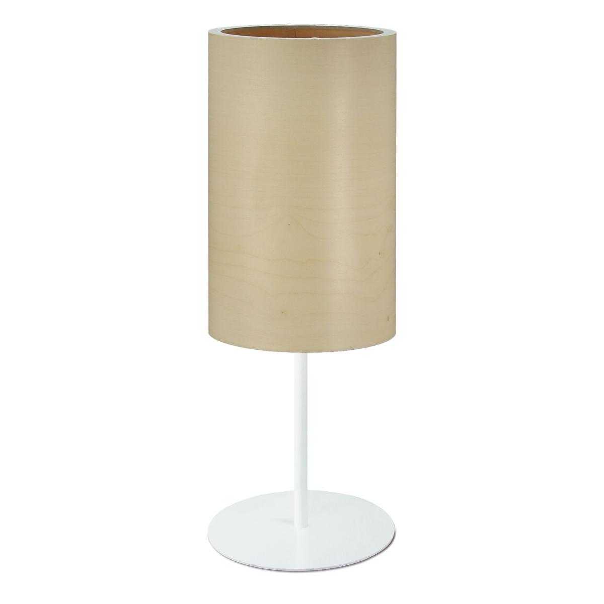 schlichte tischleuchte mit schirm aus holzfurnier. Black Bedroom Furniture Sets. Home Design Ideas
