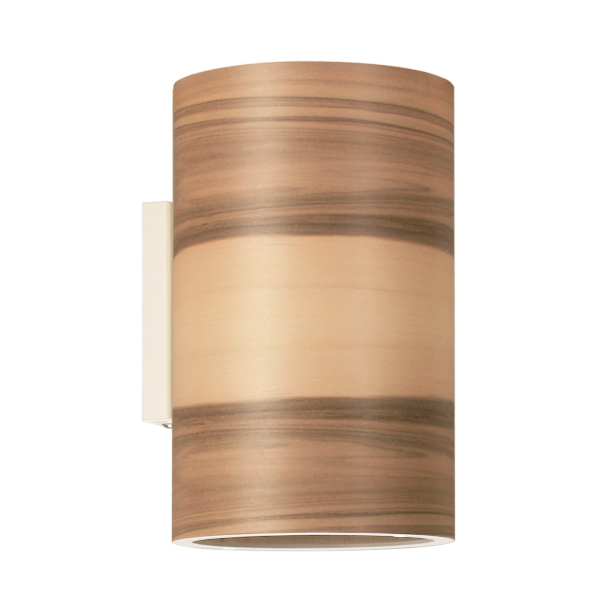 elegante up and down wandleuchte mit schirm aus echtholzfurnier. Black Bedroom Furniture Sets. Home Design Ideas