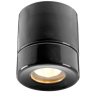Downlight-Deckenspot in schwarz glasierter Keramik