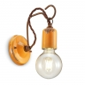 Wandlampe in gelber Glasur