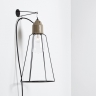 industrielle fassungsleuchte f r die wand in keramik. Black Bedroom Furniture Sets. Home Design Ideas