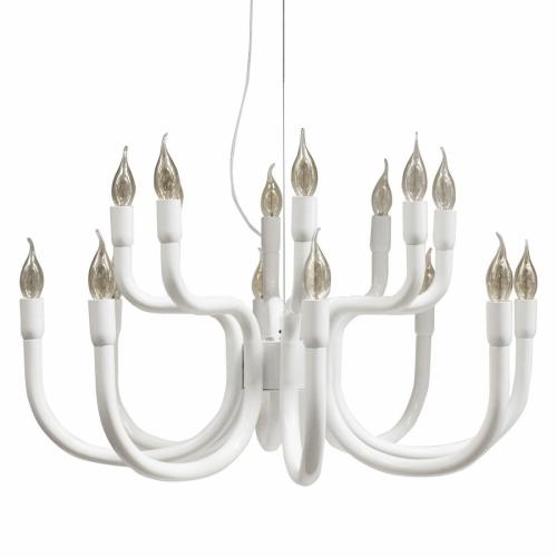 Leuchter in Weiß