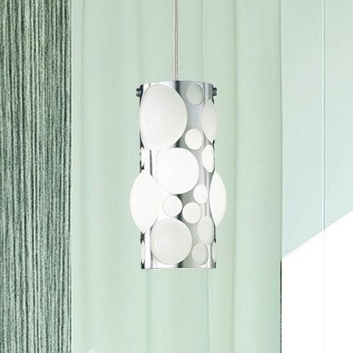 Ausgefallene Design-Leuchte aus Glas und glänzendem Stahl