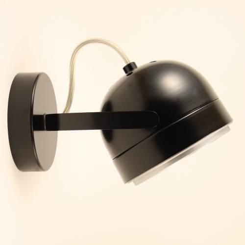 einstellbarer retro spotin kupfer chrom oder gold. Black Bedroom Furniture Sets. Home Design Ideas