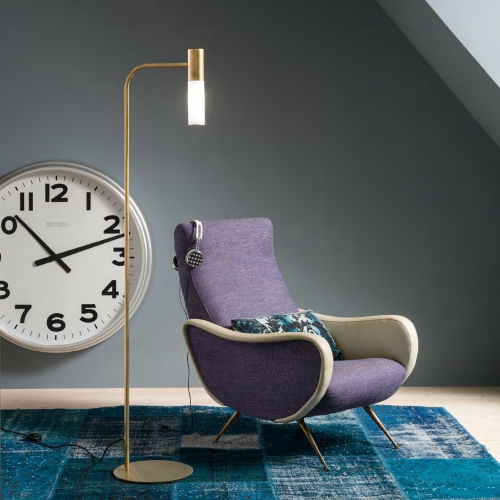 Stehlampe in Messing natur