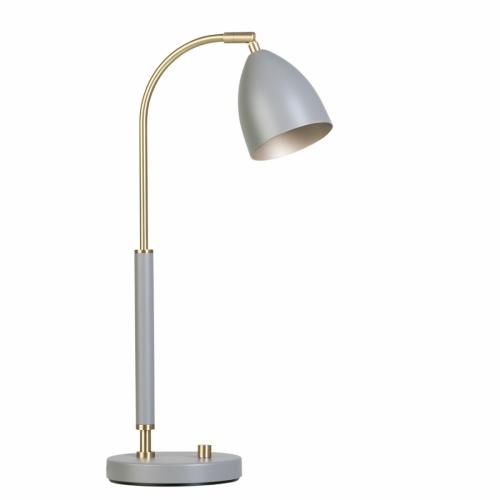 Tischlampe Messing/Grau