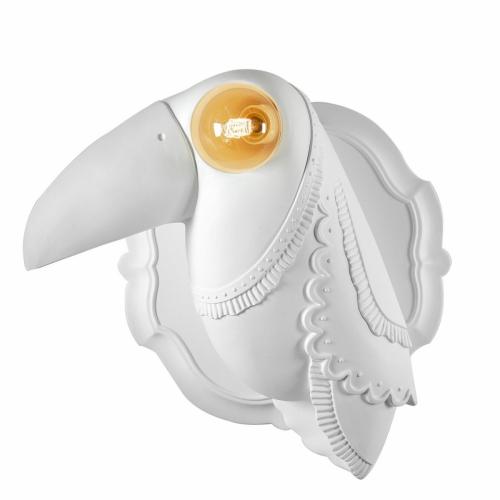 Extravagante Vogel-Lampe mit leuchtendem Auge