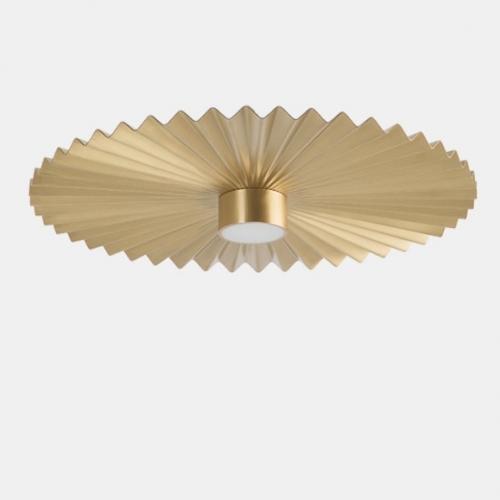 Kleines Modell der Deckenleuchte in Aluminium schwarz, Durchmesser 39cm