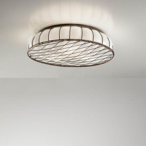Flache glasdeckenlampe for Flache deckenlampe