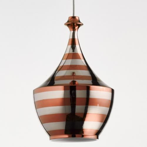 Design-Pendelleuchte mit Beschichtung in Kupfer und Platin