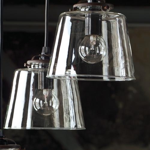 Hängelampe mit Klarglasschirm, Durchmesser 15cm