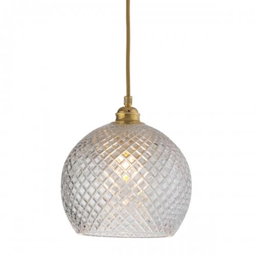 22cm-Kugelglas mit kleinem Muster, Gold-Aufhängung
