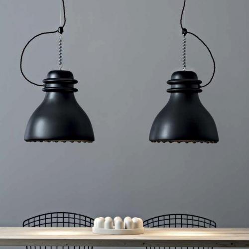 Keramikpendelleuchten in Schwarz matt