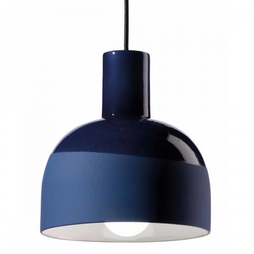 Keramiklampe in Kobaltblau