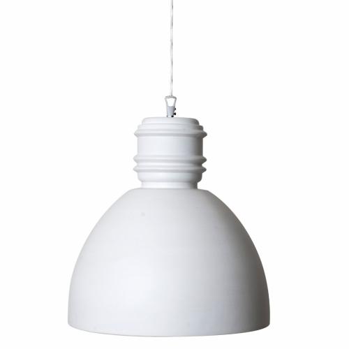 Großes Modell der Keramiklampe in weißer Keramik