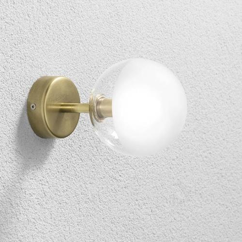 Art-Déco-Wandlampe in Messing natur