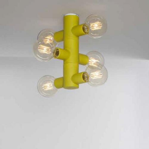 Spot-Leuchter in Acid matt, drei Zylinder mit zwei Spots