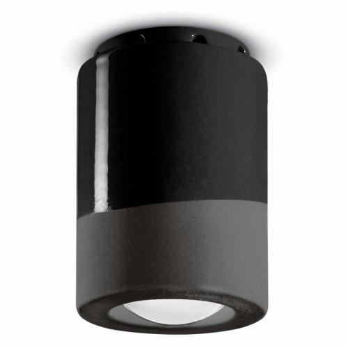 Schmales Modell der Deckenlampe in Karbon-Schwarz