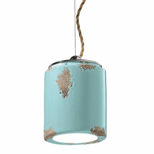Vintage-Lampe in Azurblau