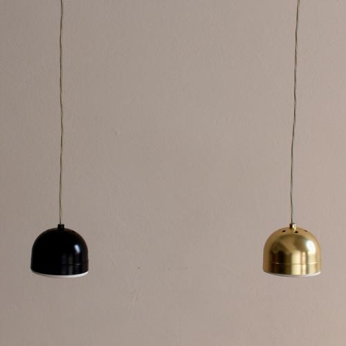 Retro-Pendelleuchten in Gold und Schwarz mit LED-Leuchtmittel