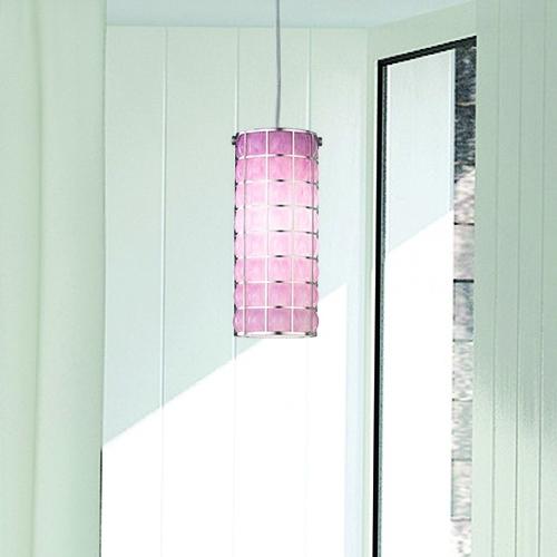 Pendelleuchte mit mundgeblasenem Schirm aus rosanem Muranoglas