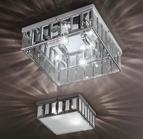 Großes und mittleres Modell der Glas-Deckenleuchte