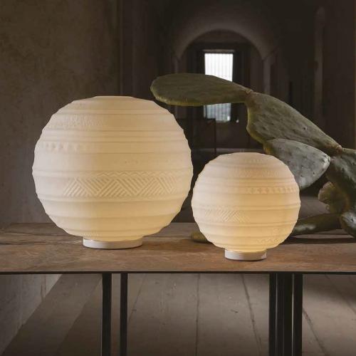 Glas-Tischlampe in zwei Größen