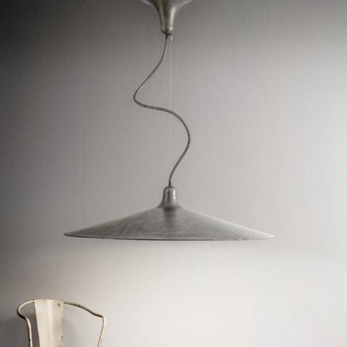Große Aluminium-Hängelampe, Durchmesser 120cm
