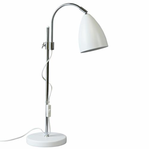 Tischlampe Weiß mit Chrom