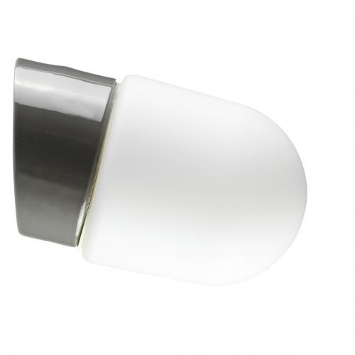 Minimalistische Wandleuchte mit grau glasiertem Porzellan-Sockel